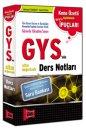 2016 Yargı Yayınevi GYS'nin Altın Değerinde Ders Notları