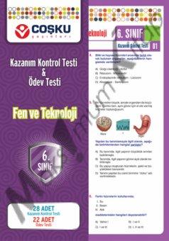 6.s�n�f Fen ve Teknoloji Kazan�m Kontrol Testi & �dev Testi co�ku yay�nlar�