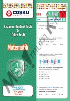 7.s�n�f Matematik Kazan�m Kontrol Testi & �dev Testi co�ku yay�nlar�