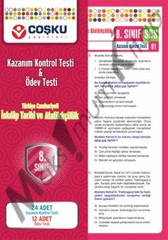 8.sınıf  T.C. İnkılâp Tarihi ve Atatürkçülük Kazanım Kontrol Testi & Ödev Testi  coşku yayınları