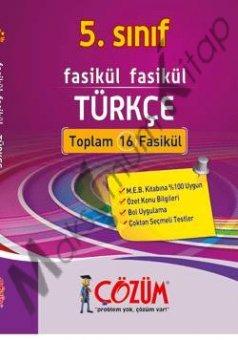 Çözüm Yayınları 5.Sınıf Türkçe Fasikül Seti