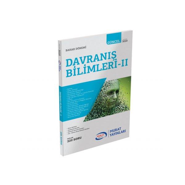 Murat Yayınları Açıköğretim Davranış Bilimleri-II 1. Sınıf 2. Dönem Konu Özetli Soru Bankası(5020)