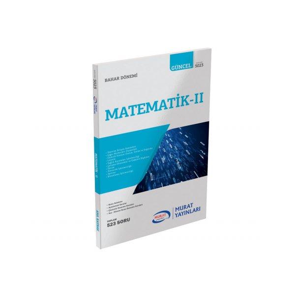 Murat Yayınları Açıköğretim Matematik-II 1. Sınıf 2. Dönem Konu Özetli Soru Bankası(5023)