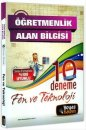Beyaz Kalem Yayınları ÖABT Fen ve Teknoloji Çözümlü 10 Deneme