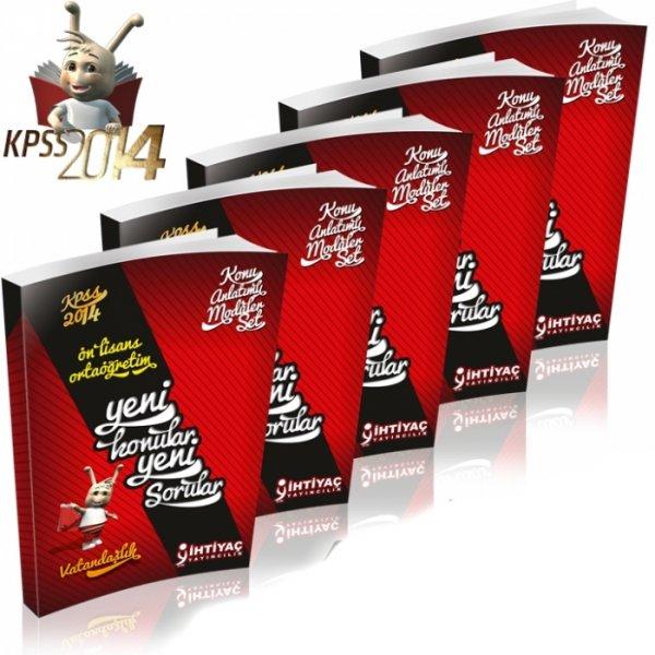 2014 KPSS Lise Önlisans Konu Anlatımlı Modüler Set İhtiyaç Yayınları 5 Kitap