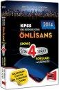 2014 KPSS �nlisans ��km�� Son 4 S�nav Sorular� ve ��z�mleri Yarg� Yay�nevi