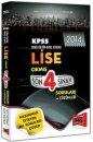 2014 KPSS Lise ��km�� Son 4 S�nav Sorular� ve ��z�mleri Yarg� Yay�nevi