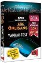 2014 KPSS Lise �nlisans �ek Kopar Yaprak Test Yarg� Yay�nevi