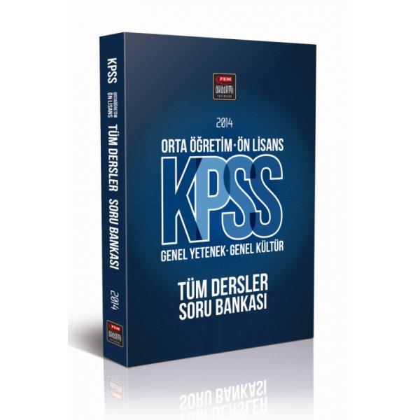 2014 KPSS Lise Önlisans Soru Bankası Fem Akademi Yayınları