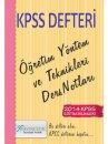 2014 KPSS E�itim Bilimleri ��retim Y�ntem ve Teknikleri Ders Notlar� X Yay�nlar�