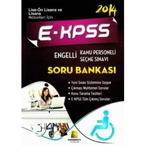 2014 EKPSS Engelli Kamu Personeli Seçme Sınavı Soru Bankası Kapadokya Yayınları