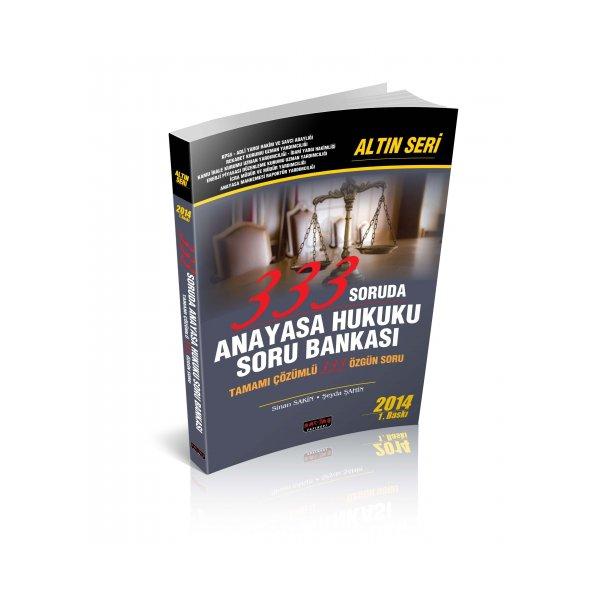 Savaş Yayınları 333 Soruda Anayasa Hukuku Soru Bankası Altın Seri