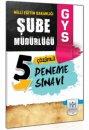 2014 GYS Milli Eğitim Bakanlığı Şube Müdürlüğü 5 Deneme Sınavı Müfredat Yayınları
