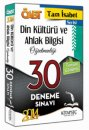 2014 �ABT Tam �sabet Din K�lt�r� ve Ahlak Bilgisi ��retmenli�i 30 Deneme Kitapse� Yay�nc�l�k