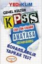 2014 KPSS Lise Önlisans Anayasa Güncel Olaylar Yaprak Test Yediiklim Yayınları