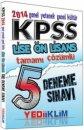 2014 KPSS Lise �nlisans 5 Deneme Tamam� ��z�ml� Yediiklim Yay�nlar�