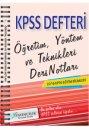 2016 KPSS E�itim Bilimleri ��retim Y�ntem ve Teknikleri Ders Notlar� X Yay�nlar�