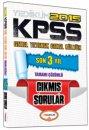 2015 KPSS Genel Yetenek Genel K�lt�r Son 3 Y�l Tamam� ��z�ml� ��km�� Sorular Yediiklim Yay�nlar�