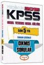 2015 KPSS Genel Yetenek Genel K�lt�r Son 5 Y�l Tamam� ��z�ml� ��km�� Sorular Yediiklim Yay�nlar�