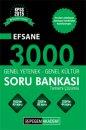 2015 KPSS Genel Yetenek Genel K�lt�r Tamam� ��z�ml� Efsane 3000 Soru Bankas� Seti-2 Kitap Pegem Yay�nlar�