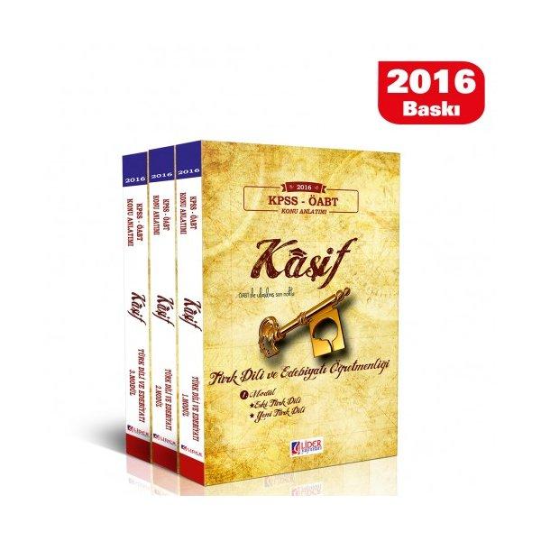 2016 ÖABT Kaşif Türk Dili ve Edebiyat Öğretmenliği Konu Anlatımlı Modüler Set Lider Yayınları