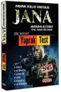 JANA Jandarma Astsubay Temel Kursu Giriş Sınavı Yaprak Test Arge Yayınları 2015