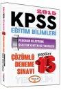 2015 KPSS E�itim Bilimleri Program Geli�tirme ��retim Y�ntem ve Teknikleri ��z�ml� Pop�ler 15 Deneme S�nav� Yediiklim