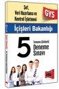 GYS İçişleri Bakanlığı Şef Veri Hizmetleri ve Kontrol İşletmeni Tamamı Çözümlü 5 Deneme Sınavı Yargı Yayınları