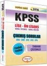 Yediiklim 2016 KPSS Lise �nlisans Tamam� ��z�ml� ��km�� Sorular 2006-2014