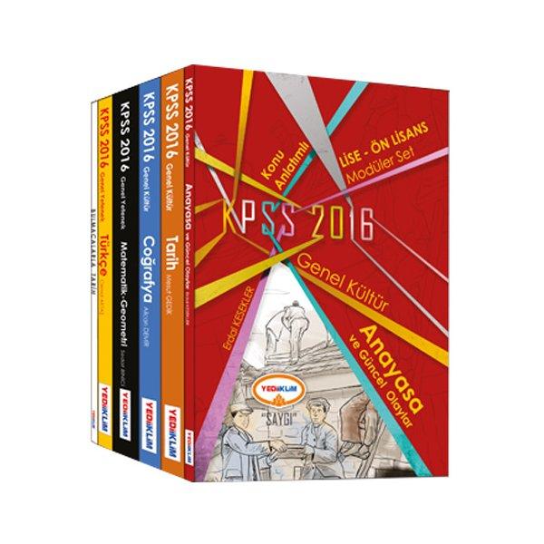 2016 KPSS Lise Önlisans Konu Anlatımlı Modüler Set Yediiklim Yayınları