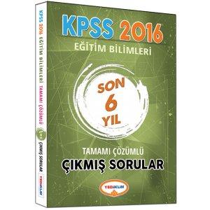 2016 KPSS Eğitim Bilimleri Son 6 Yıl Tamamı Çözümlü Soru Bankası Yediiklim Yayınları