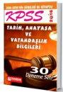 2016 KPSS Tarih ve Anayasa 30 Deneme Seti Teorem Yayınları