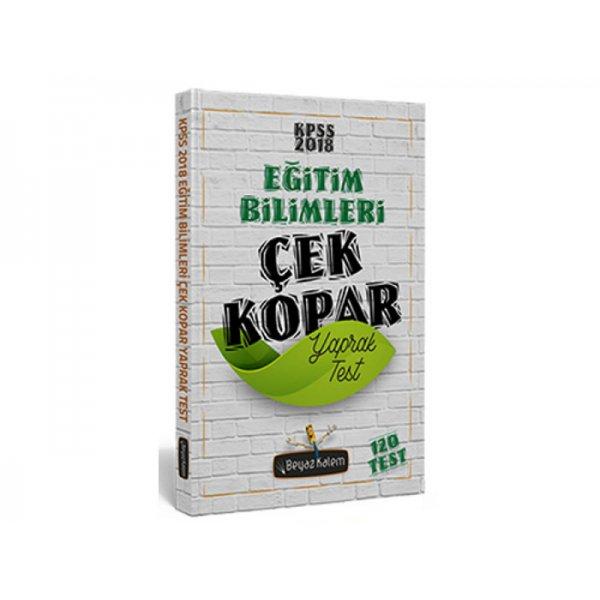 2018 KPSS Eğitim Bilimleri Çek Kopar Yaprak Test Beyaz Kalem Yayınları