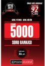 2017 KPSS Genel K�lt�r Genel Yetenek EFSANE 5000 Soru Bankas� Pegem Yay�nlar�
