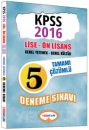 2016 KPSS Lise �nlisans Genel K�lt�r Genel Yetenek Tamam� ��z�ml� 5 Deneme S�nav� Yediiklim Yay�nlar�