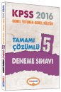2016 KPSS Genel Yetenek Genel K�lt�r Tamam� ��z�ml� 5 Deneme S�nav� Yediiklim Yay�nlar�