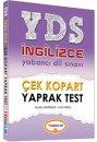 2016 YDS İngilizce Çek Kopart Yaprak Test Yediiklim Yayınları