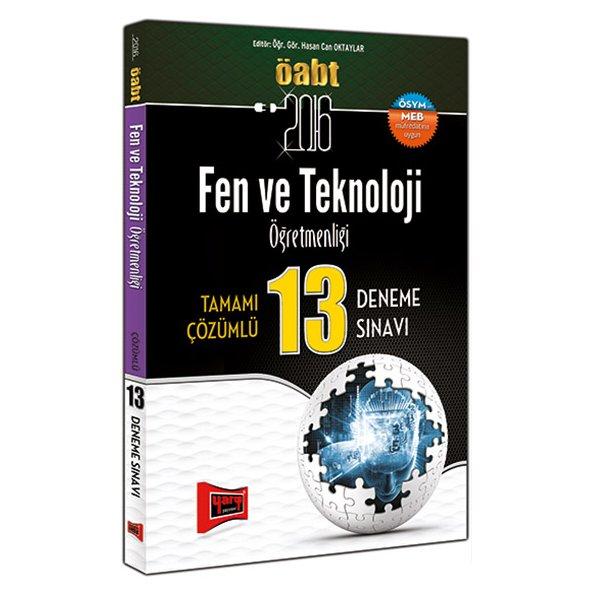 2016 ÖABT Fen ve Teknoloji Öğretmenliği Tamamı Çözümlü 13 Deneme Sınavı Yargı Yayınları