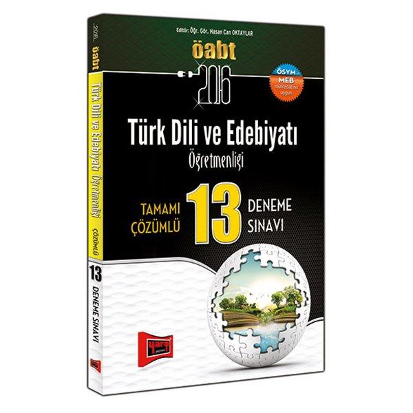 2016 ÖABT Türk Dili ve Edebiyatı Öğretmenliği Tamamı Çözümlü 13 Deneme Sınavı Yargı Yayınları