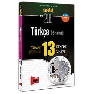 2016 ÖABT Türkçe Öğretmenliği Tamamı Çözümlü 13 Deneme Sınavı Yargı Yayınları