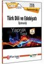 2016 ÖABT Türk Dili ve Edebiyatı Öğretmenliği Yaprak Test Öabt Okulu Yayınları