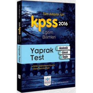 2016 KPSS Eğitim Bilimleri Yaprak Test Müfredat Yayınları