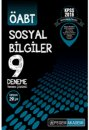 2016 ÖABT Sosyal Bilgiler Öğretmenliği Tamamı Çözümlü 9 Deneme Sınavı Pegem Yayınları