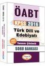 2016 ÖABT Türk Dili ve Edebiyatı Öğretmenliği Tamamı Çözümlü Soru Bankası Yediiklim Yayınları