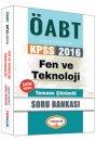 2016 ÖABT Fen ve Teknoloji Öğretmenliği Tamamı Çözümlü Soru Bankası Yediiklim Yayınları