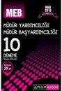 2016 MEB Müdür Yardımcılığı ve Müdür Başyardımcılığı Tamamı Çözümlü 10 Deneme Pegem Yayınları