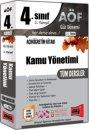 4.Sınıf 7.Yarıyıl Kamu Yönetimi Tüm Dersler Kod:7004 Yargı Yayınları