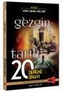 2016 KPSS Gezgin Tarih Çözümlü 20 Deneme Sınavı Yargı Yayınları