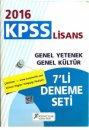2016 KPSS Genel Kültür Genel Yetenek 7 Li Deneme Seti X Yayınları