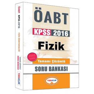 2016 ÖABT Fizik Öğretmenliği Tamamı Çözümlü Soru Bankası Yediiklim Yayınları